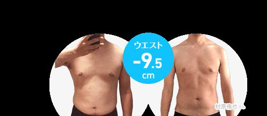 村原侑也さん ウエスト-9.5cm