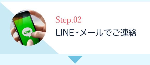 2.LINE・メールでご連絡